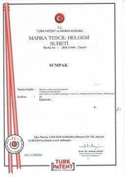 SCMPAK MARKA TESCİL BELGEMİZ